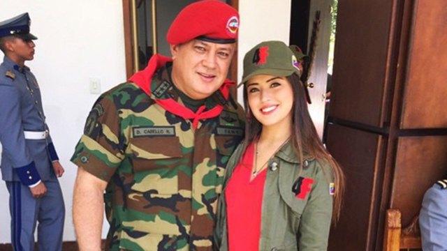 Diosdado Cabello y su hija Daniella