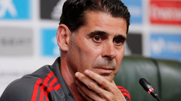 Fernando Hierro, entrenador de España