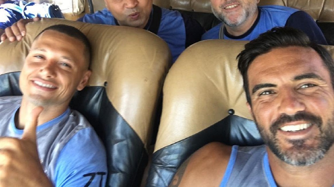 Otras épocas: Cubero y Zárate juntos cuando compartían plantel en Vélez