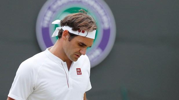 Roger Federer quedó eliminado en semifinales de Wimbledon tras caer ante Anderson (Reuters)
