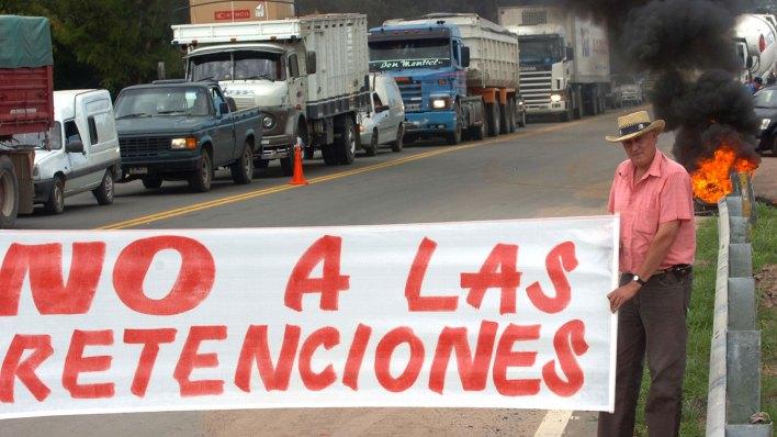 Protesta del campo contra las retenciones móviles (NA)