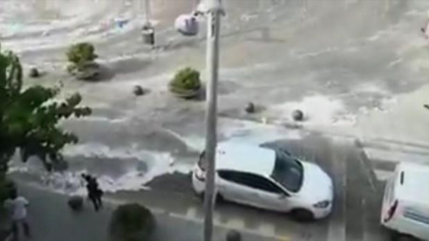 Muchos autos quedaron varados