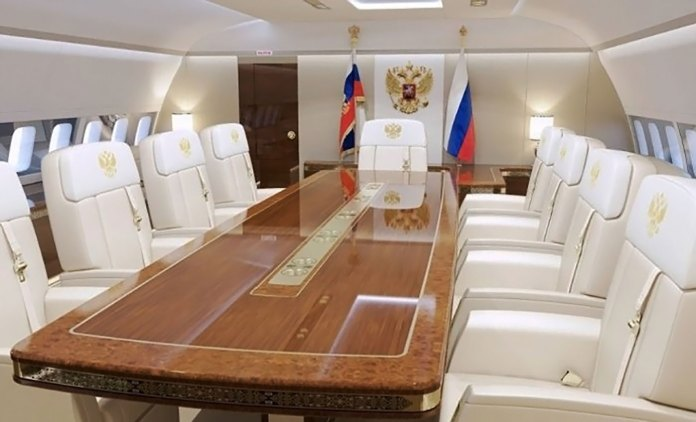 La sala de conferencias de Vladimir Putin le permite trabajar con comodidad en el aire(Foto: CEN)