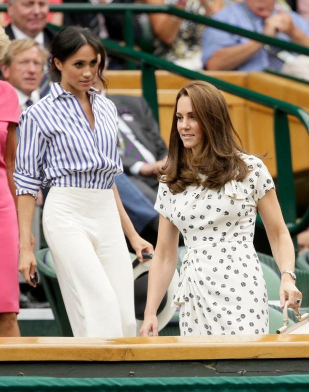 Las cuñadas fueron juntas sin sus maridos al campeonato de Wimbledon (AP Photo/Tim Ireland)
