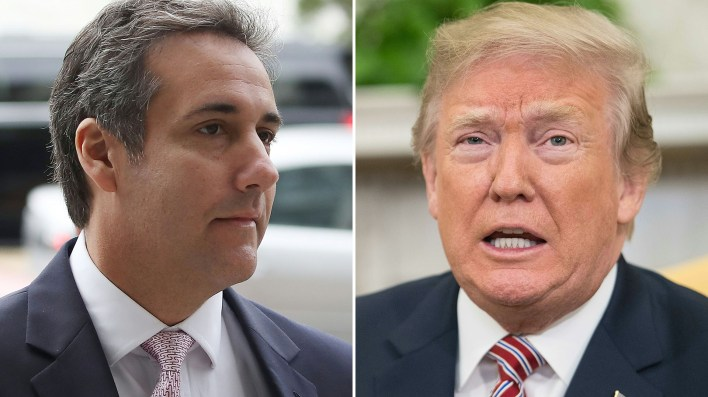 Michael Cohen apuntó contra Donald Trump en su descargo judicial (AFP)