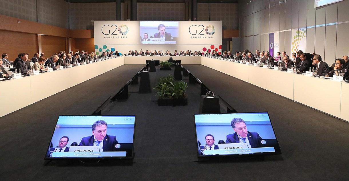 El plenario de la reunión de Finanzas del G20 que se hizo en Buenos Aires
