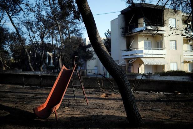 El fuego arrasó todo (Reuters)