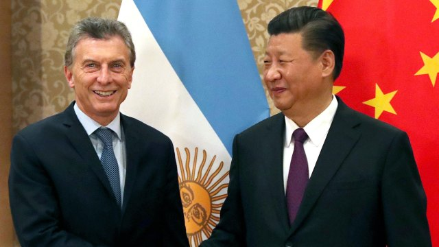 Xi Jinping junto a Mauricio Macri