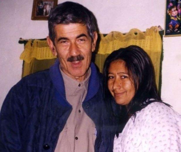Manuel Roseo con Nélida Cuéllar, la madre de sus hijos