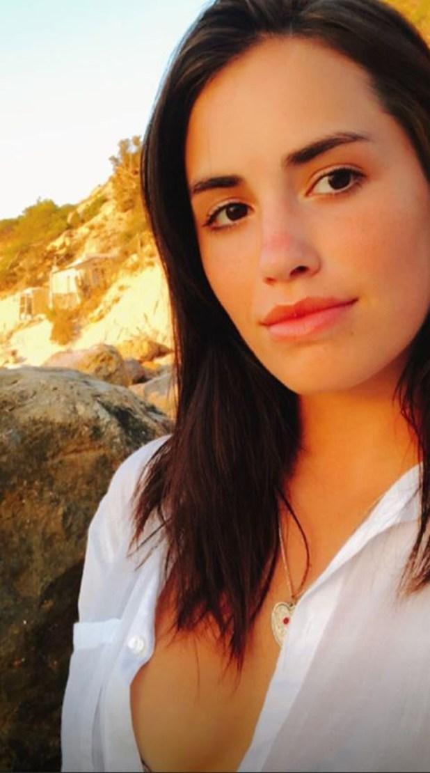 La actriz y cantante, al natural
