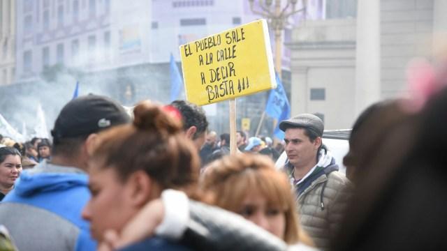 Una movilización de Barrios de Pie realizada el mes pasado (Foto: Manuel Cortina)