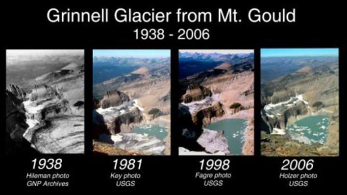 Otro retroceso glaciar notorio