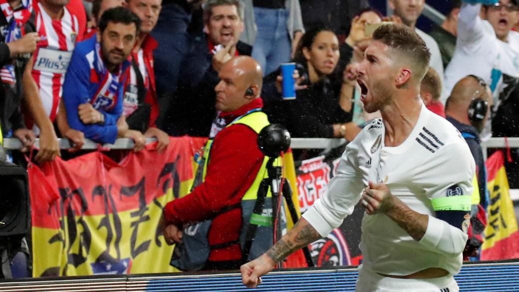 Sergio Ramos gritó el 2-1 parcial (Reuters)