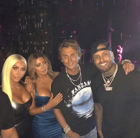 Kim Kardashian, Larsa Pipen, Jonathan Cheban y Nicky Jam juntos en Miami (Instagram: Nicky Jam)