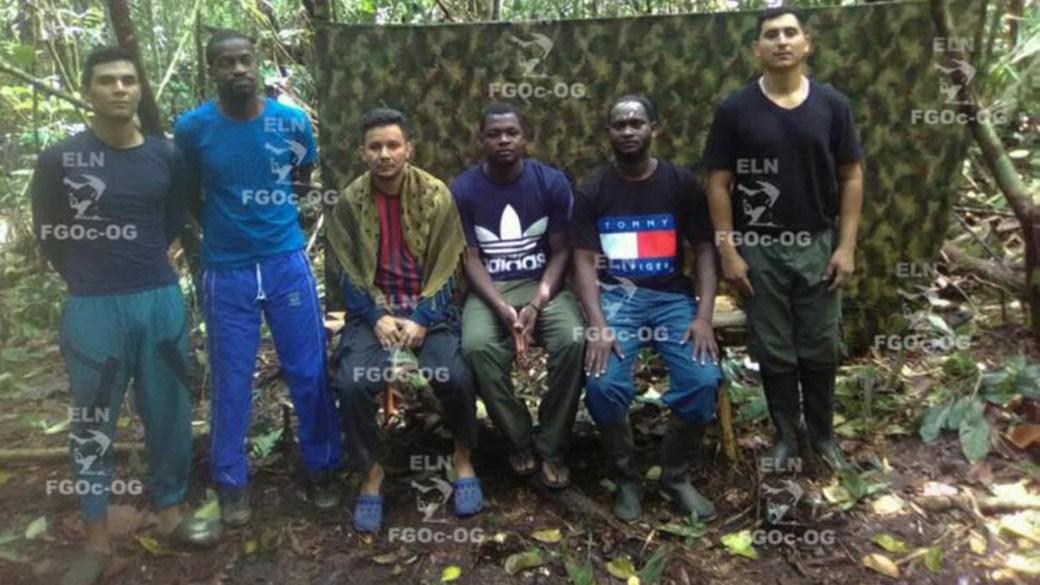 Los seis prisioneros del ELN en el Chocó