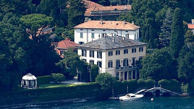 La residencia está ubicada en el Lago Como, un destino turístico de los famosos de Hollywood