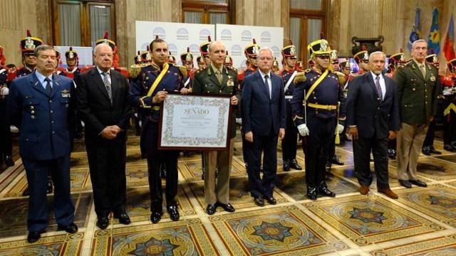 Los granaderos recibieron la distinción en el senado de la Nación