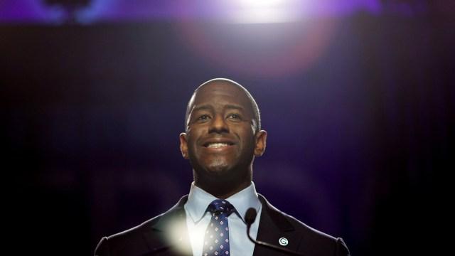Eldemócrata Andrew Gillum fue alcalde de Talahassee, capital de la Florida.(REUTERS/Chris Aluka Berry)