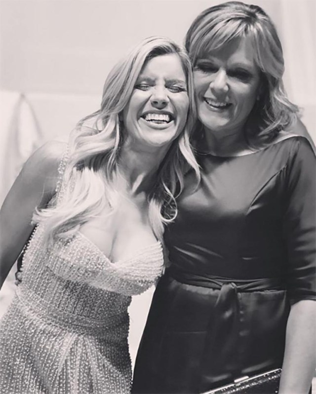 Ines Stork con Laurita Fernández
