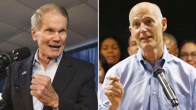 Bill Nelson y Rick Scott también quedaronen unacompetencia reñidapor ir al Senado.