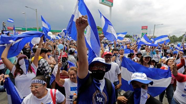 El del jueves es el cuarto paro nacional convocado desde abril, cuando comenzaron las protestas en Nicaragua (AFP)
