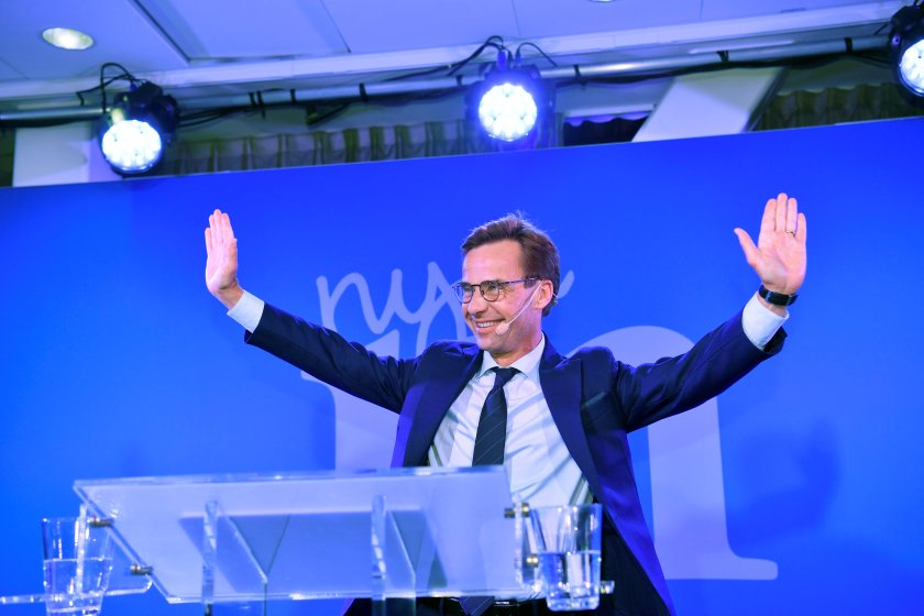 Ulf Kristersson, líder del partido moderado (TT News Agency/Henrik Montgomery via REUTERS)