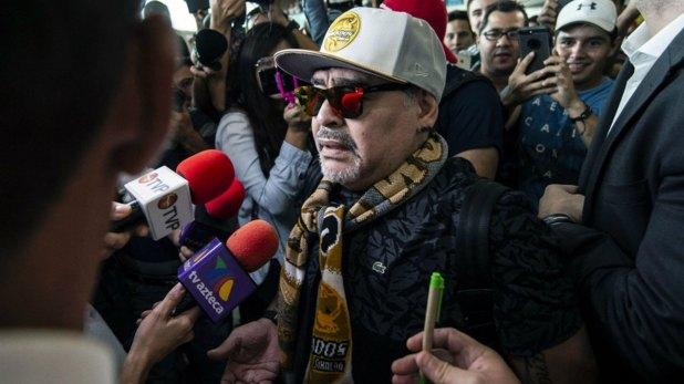 Maradona pasa sus días en el hotel Lucerna