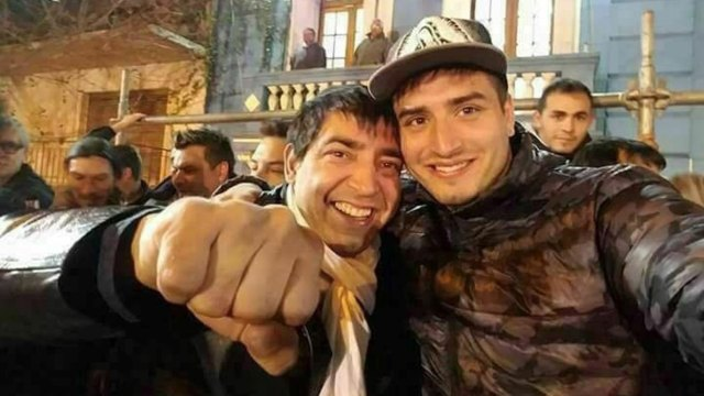 """Cristian y Braian Medina, hoy disidentes del """"Pata"""" en la Uocra."""