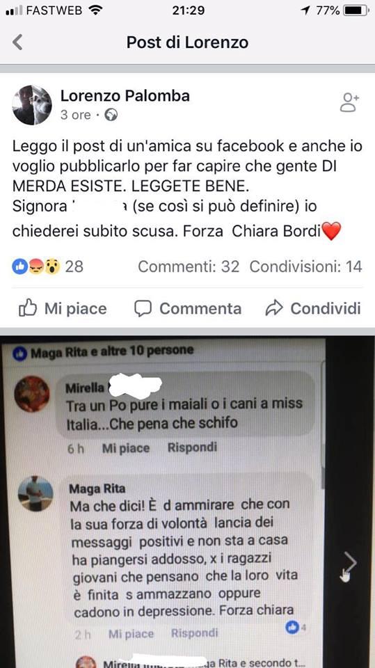 """""""Dentro de poco van a haber perros y puercos en Miss Italia, qué pena, qué asco"""", escribió una usuaria"""