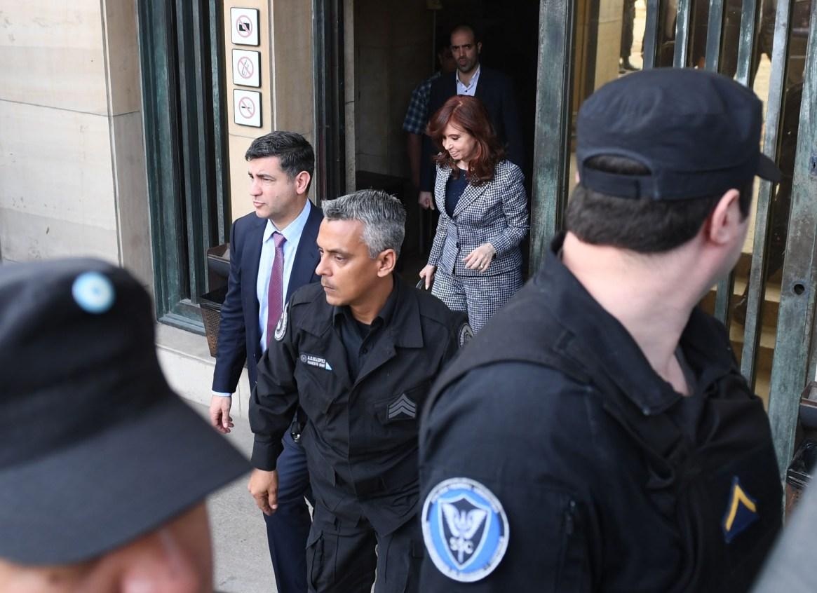 Cristina Kirchner, en una de sus indagatorias en Comodoro Py