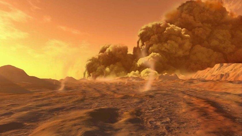 De los grandes campos de dunas que rodean el ecuador de Titán se levantan moléculas orgánicas complejas, resultado de la química atmosférica que, una vez alcanzado un tamaño suficiente, vuelven a caer a la superficie