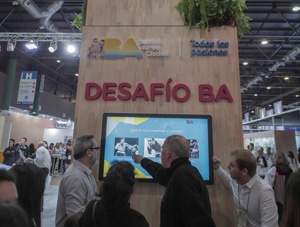 La Ciudad de Buenos Aires también también estuvo presente con una gran maqueta de la ciudad y juegos digitales, además de sus propuestas turísticas y eventos