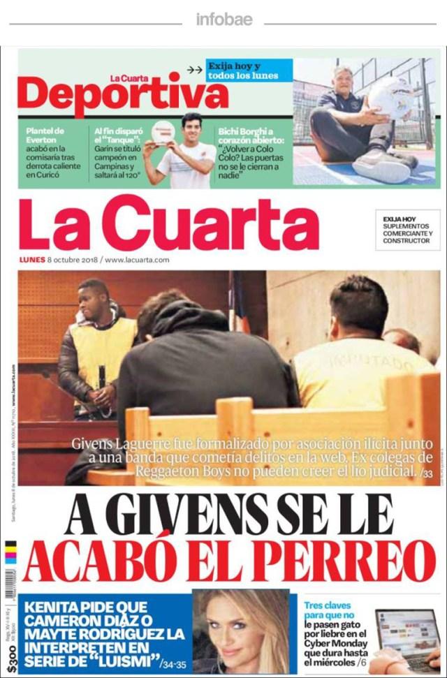 La Cuarta, Chile, 9 de octubre de 2018 – Debate De Noticias