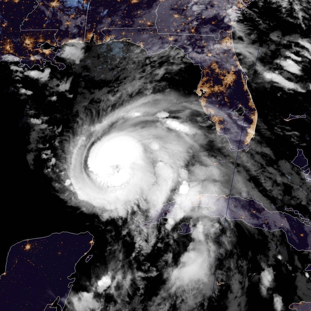 El huracán Michael visto desde el espacio.