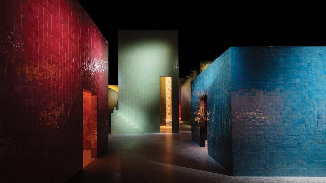 Hermès realizó su presentación en el Museo della Permanente 34, Via Turati, durante la Feria Internacional del Mueble de Milán