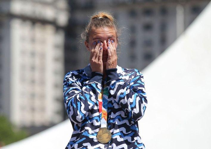 María Sol Ordas, la ganadora de la primera medalla de oro para Argentina (NA)