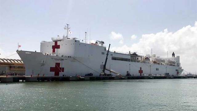 El buque USNS Comfort de la Armada de los Estados Unidos
