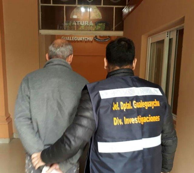 Horacio, tras ser detenido por la Policía de Entre Ríos.