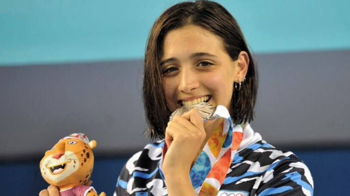 La nadadora Pignatiello colaboró con dos medallas de plata (NA)