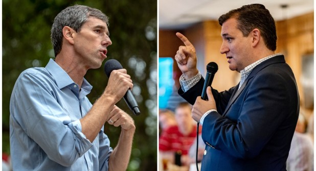 Beto O'Rourkey Ted Cruzprotagonizan la competencia en Texas (Reuters/Sergio Flores)