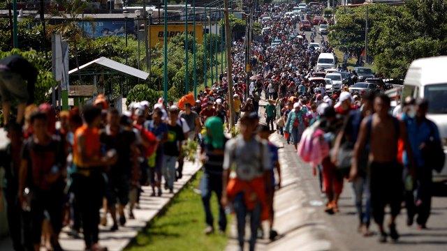 La caravana tiene como objetivo llegar a Estados Unidos (Foto: Reuters)