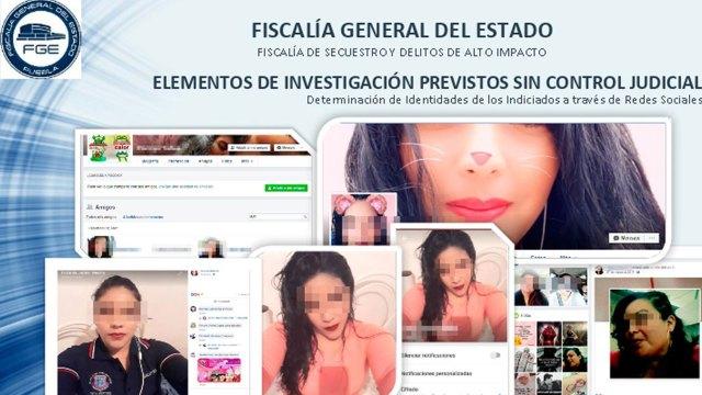 """La mujer de 24 años """"enganchaba"""" a sus víctimas a través de redes sociales. (Fotos: Fiscalía de Puebla)"""