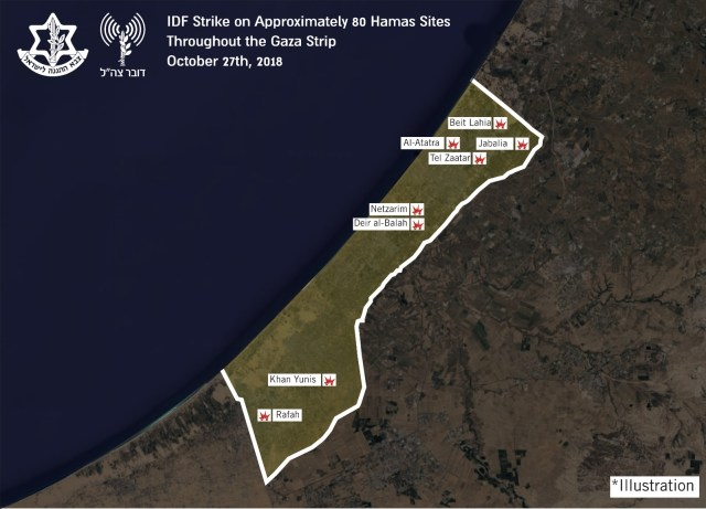 Lugares atacados por Israel.