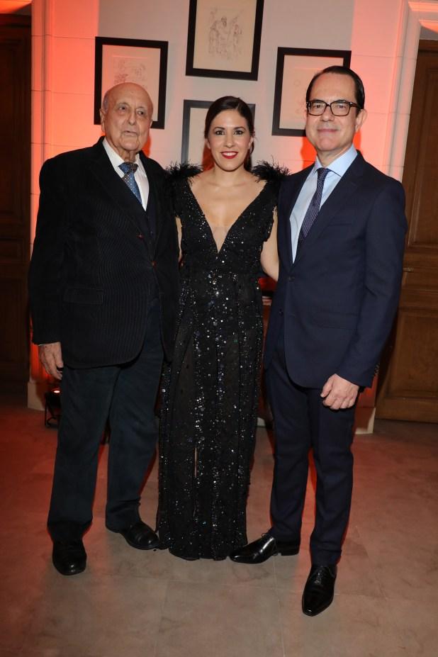 Antonio Estrany-Gendre, Carminne Dodero y el embajador Zevelakis