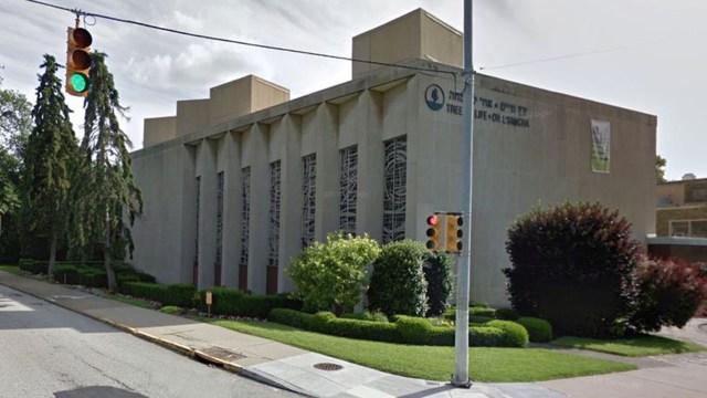 La sinagoga Tree of Life Congregation en la avenida Wilkins de Pittsburgh.