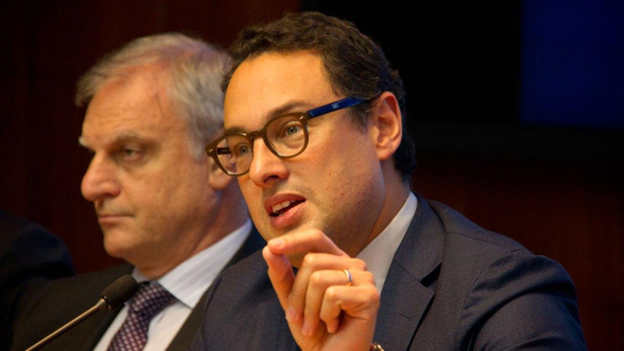 El director general de la AFIP, Leandro Cuccioli, junto al director de la DGI, Marcelo Costa, analizaron los resultados tributarios del último mes
