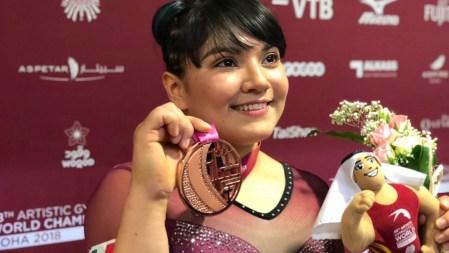 La mexicana Alexa Moreno se hizo con el bronce en el Mundial de Gimnasia Artística en Doha.