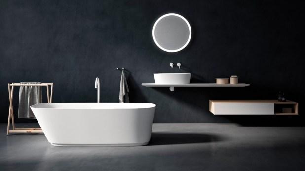 La firma Agape presentó en Milan Design Week 2018 la bañera Neve, diseñada por Benedini Associati