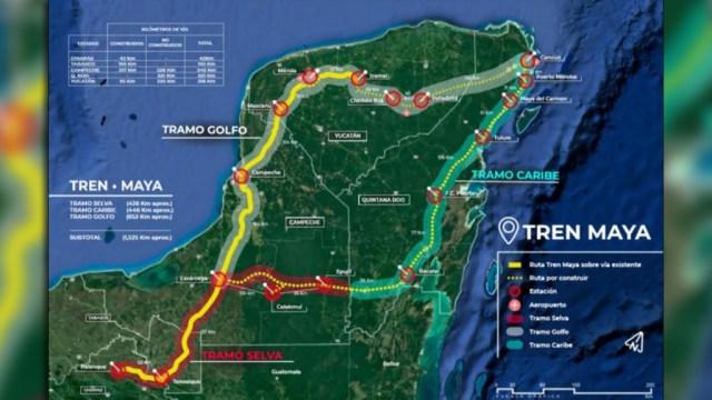 El proyecto del Tren Maya contempla recorrer zonas de selva, la orilla del Golfo de México y el caribe en los estados de Campeche, Chiapas, Quintana Roo, Tabasco, Yucatán (Foto: LopezObrador.org.mx)