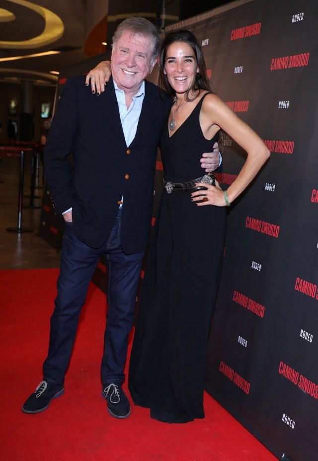 """Arturo Puig y Juana Viale, en la presentación de la película """"Camino sinuoso"""" que ambos protagonizan (Christian Bochichio / Teleshow)"""